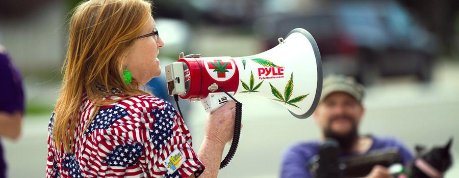 manifestación de cannabis Estados Unidos legalizó Trump