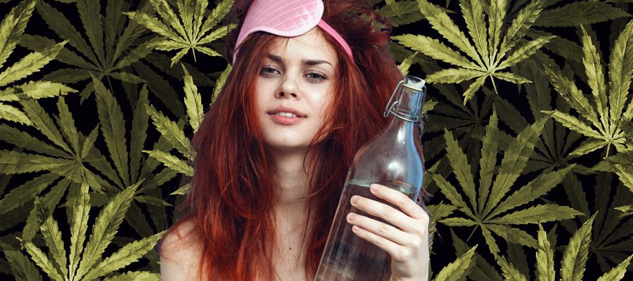 resaca cannabis fumada hidratación
