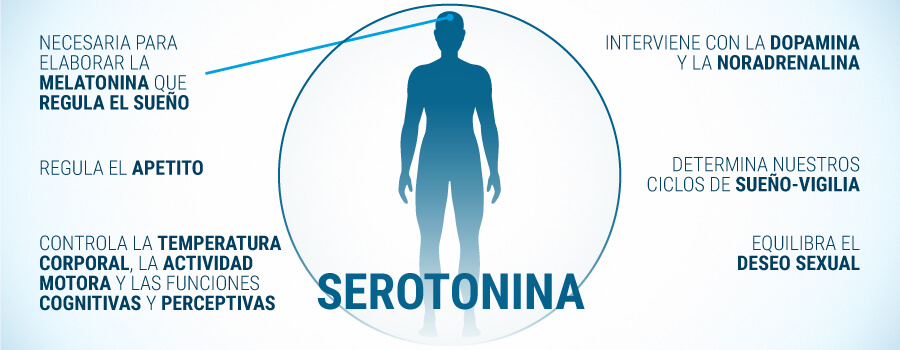 donde se produce la serotonina en el cuerpo