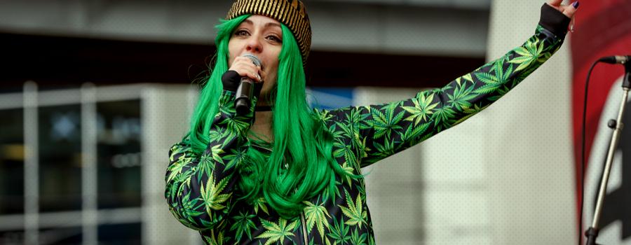 Negocio de cannabis de tela de alta costura