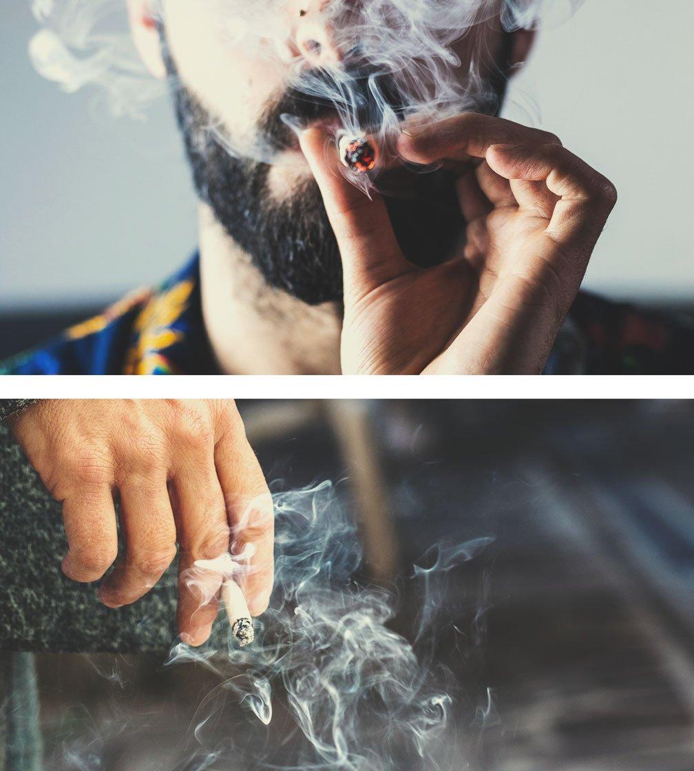 Fumar marihuana frente a fumar tabaco