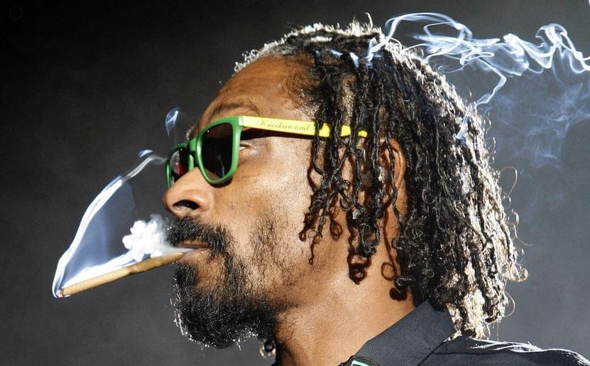Snoop Dogg smokes joint RQS